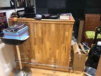 Oak finish handmade bar