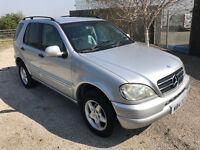 Mercedes ML 3.2 Automatic 7 Seater 4x4 tow bar - touch screen Sat nav Dvd player - Service History
