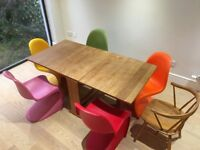 Dining room chairs (Panton S chairs) x 5