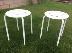 Ikea white stools (sold as a pair)
