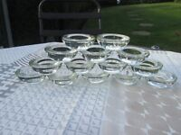 Wedding/Party glass tea light holders.