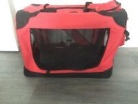 Pet Dog Cat Fabric Soft Portable Crate Kennel Cage Carrier House