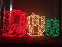 SET OF 3 XMAS PRESENT ROPE LIGHT Christmas lights SET. NEW IN BOX