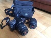 Sony DSLR A380 in excellent condition (including 2 lenses)