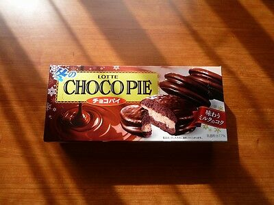 CHOCO PIE LOTTE Cocoa taste Japanese confection cake candy sweets madein Japan