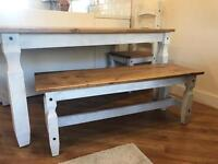 Shabby chic 4 seat dining table