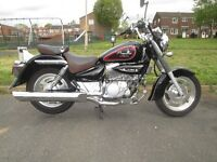 Hyosung Aquila GV C 125 cc, condition like brand new 10/10 superb looking full size cruiser.