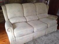 2 + 3 seater cream sofas