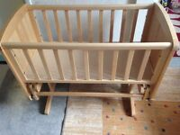 Mothercare Glider Crib Deluxe Natural
