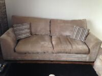 SCS SOFA AND SNUGGLE CHAIR