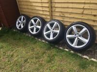"18"" Genuine Audi Alloys Sline A3 A4 A5 A6 Alloy wheels ronal 5 x 112"
