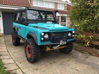 Land Rover 90 Defender off roader trailer challenge swap