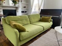 Lovely Green Made Sofa