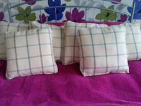 Six Brand New Checked Pattern Scatter Cushions