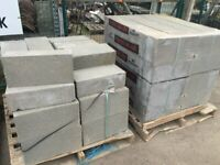 CONCRETE BLOCKS NEW 100 PAINTED GREY 140 ml £250 THE LOT
