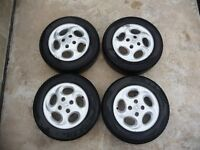 Genuine Peugeot Alloy Wheel Rims with Good Tyres 5½J x 14CH-34