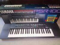 Yamaha PSR-100 electronic keyboard with 100 voices and built-in Beatles songs