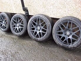 genuine bmw 18 inch alloys new tyres 3,5 series