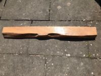 Solid oak fireplace beam