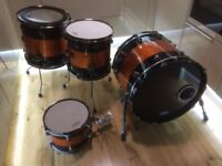 Drum Kit from Natal's Limited Edition series constructed in the UK from All-Maple drum shells.