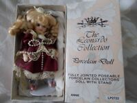 6 inch Annie Leonardo collection porcelain doll