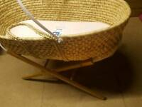 Moses Basket with cover and stand