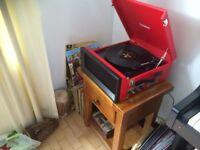Steepletone record, radio and usb retro player