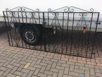 Set of 8-9ft galvanised (won't rust) driveway gates can deliver