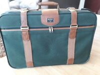 Pair of retro-style suitcases in very good condition