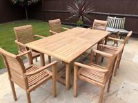 Bramblecrest Teak solid rectangle 6 seater garden furniture set