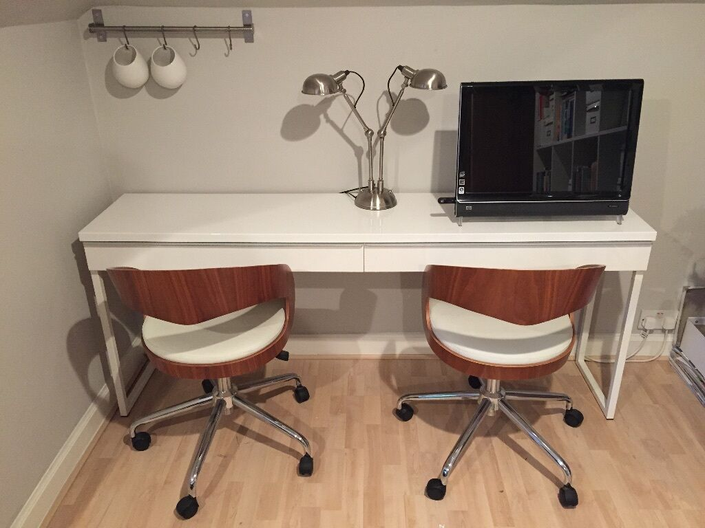ikea best burs desk high gloss white in blackhall edinburgh gumtree. Black Bedroom Furniture Sets. Home Design Ideas