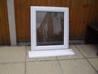 WHITE UPVC DOUBLE GLAZED BOTTOM OPENING BATHROOM/WC WINDOW