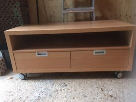 TV Table with Wheels