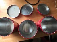 Polka dot tea and coffee pots