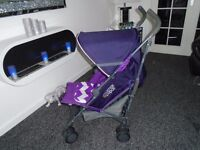 Almost new Mamas and papas tour umberella buggy with new raincover