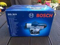 Bosch theodolite, tripod kit.