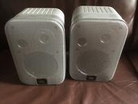 JBL Control 1 Speakers, Pair in Silver