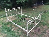 Metal double bed frame- FREE