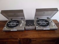 Stanton Str8-30 Direct Drive Turntables+ Numark m3 mixer/technics alternatives