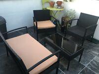 Black Rattan Outdoor Garden Patio Furniture Sets
