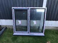 Grey upvc double glazed window