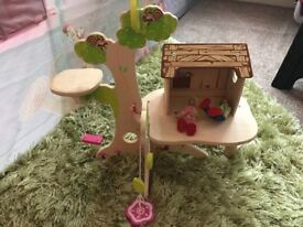 Wooden toy tree house