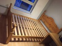Solid Pine Traditional Double Bed Frame