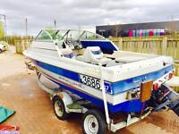 Bayliner cuddy 21ft boat. 3ltr inboard speedboat. With trailer