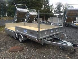 Tri axle trailer 14x6,6 Dale kane flatbed trailer