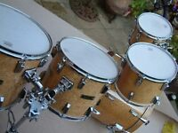 Cannon Bird's Eye maple drum shell pack - Top-of-the-range - 1990's