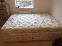 DUNLOPILLO Royal Sovereign full latex mattress and 2 drawer divan base