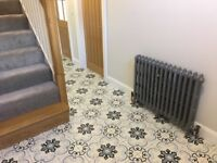 Vintage reconditioned cast iron radiator