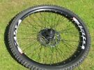 26 inch front wheel with 180mm disc