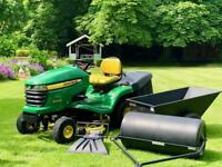 "John Deere X300R Ride On Mower - 42"" Deck - Deflector, Trailer, New Roller - Countax/Kubota/Honda"